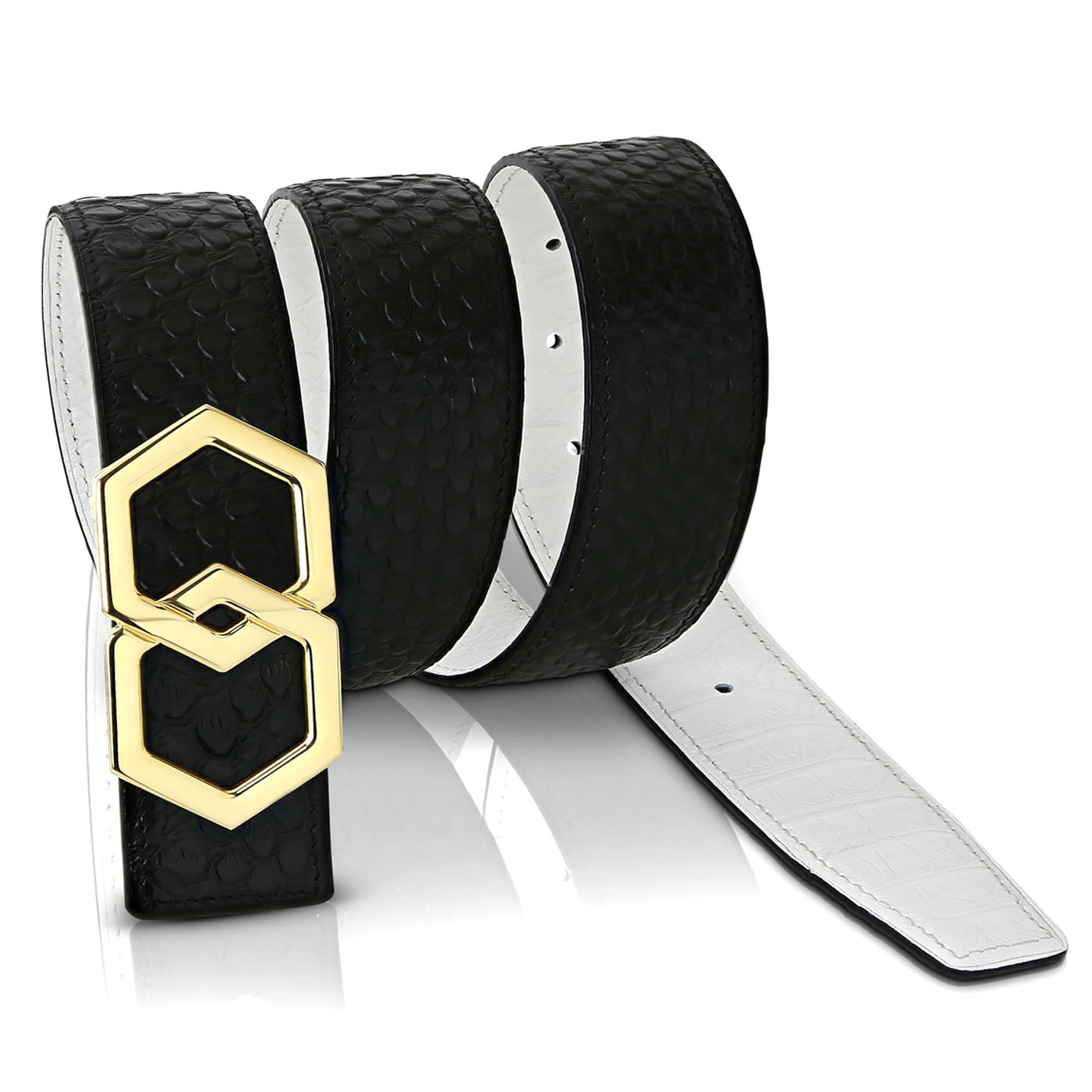 Canary Caviar Belt Reversible
