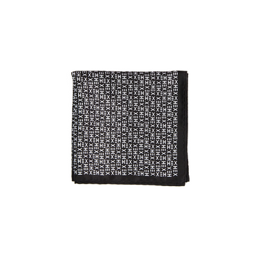 HEX TIE Pocket Square - BLACK