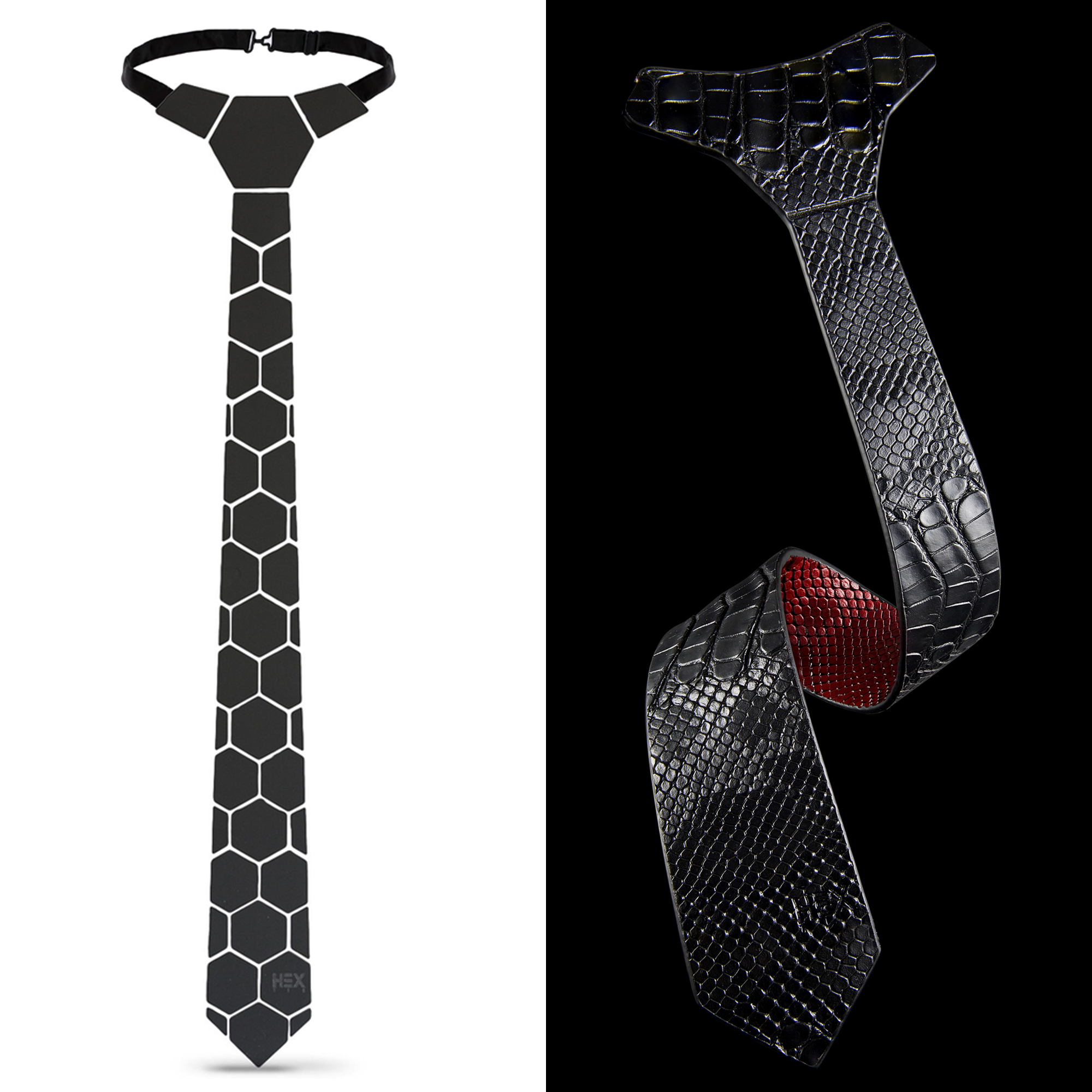 Honeycomb and Bloody Shoe Tie Combo