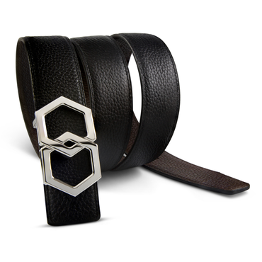 Metale Espresso Brown Noche Belt Reversible