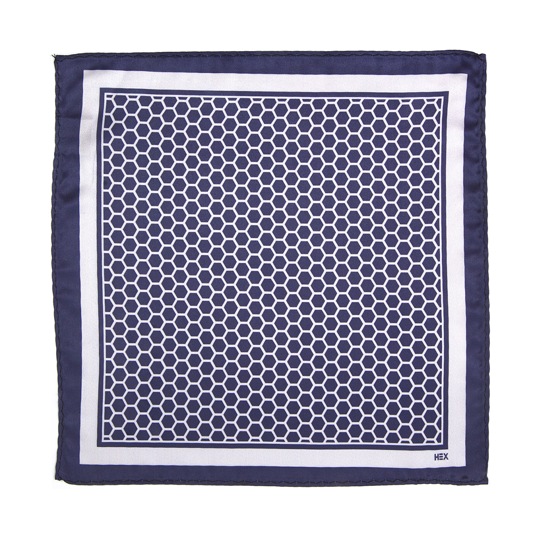 AZURE HEXAGONO Pocket Square