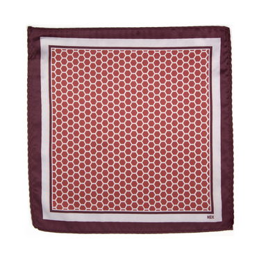 ROSSO HEXAGONO Pocket Square