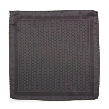 CARBONO HEXAGONO Pocket Square