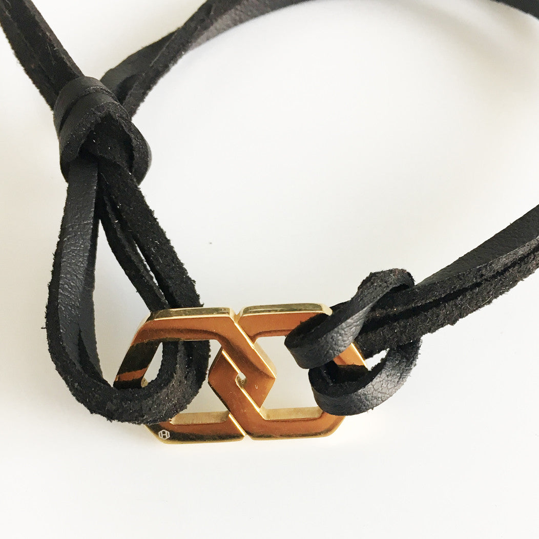 BOND GOLD BRACELET - HEX TIE