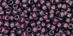 Toho 11/0 Round Japanese Seed Bead, TR11-1076, Inside Color Grey/Magenta Lined
