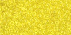 Toho 11/0 Round Japanese Seed Bead, TR11-12, Transparent Lemon