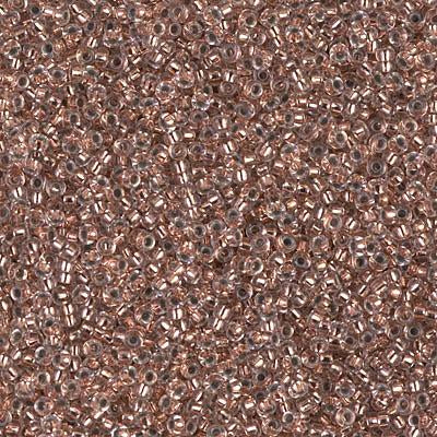 Miyuki 15/0 Round Seed Bead, 15-197, Copper Lined Crystal