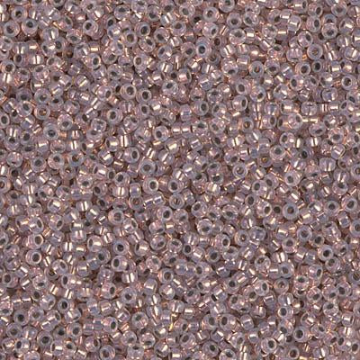 Miyuki 15/0 Round Seed Bead, 15-198, Copper Lined Opal