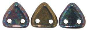 CzechMates Two Hole Triangle, Oxidized Bronze