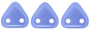 CzechMates Two Hole Triangle, Pearl Coat Baby Blue
