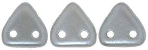 CzechMates Two Hole Triangle, Pearl Coat Silver