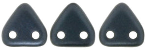 CzechMates Two Hole Triangle, Pearl Coat Charcoal