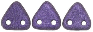 CzechMates Two Hole Triangle, Metallic Suede Purple