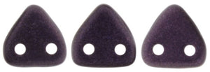 CzechMates Two Hole Triangle, Metallic Suede Dark Plum