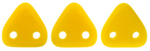 CzechMates Two Hole Triangle, Opaque Sunflower Yellow