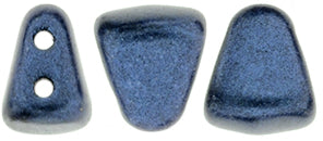 Nib-Bit Beads, Metallic Suede Dark Blue, 8 grams