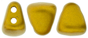 Nib-Bit Beads, Matte Metallic Antique Gold, 8 grams
