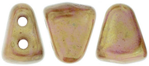 Nib-Bit Beads, Luster Opaque Rose/Gold Topaz, 8 grams