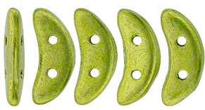 CzechMates Two Hole Crescent, Saturated Metallic Lime Punch