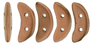 CzechMates Two Hole Crescent, Matte Metallic Bronze Copper