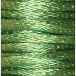 2mm Satin Rayon Rattail Cord, Apple Green, by the yard - Barrel of Beads