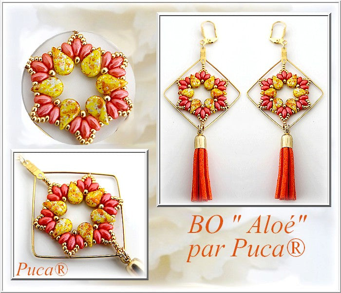 Aloé par Puca Earrings - pattern