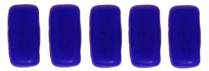 Czechmate 2mm X 6mm Brick Glass Czech Two Hole Bead, Indigo - Barrel of Beads