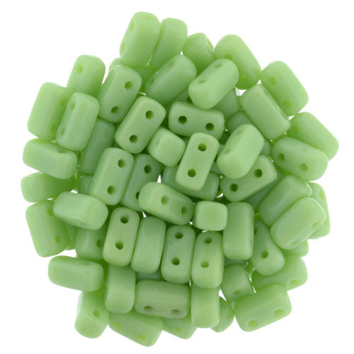 Honeydew Czech 2-Hole Brick bead