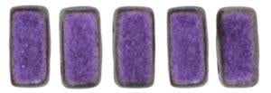 Czechmate 3mm X 6mm Brick Glass Czech Two Hole Bead, Polychrome - Black Currant