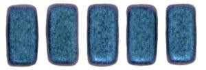 Czechmate 3mm X 6mm Brick Glass Czech Two Hole Bead, Polychrome - Indigo Orchid