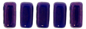 Czechmate 2mm X 6mm Brick Glass Czech Two Hole Bead, Indigo - Vega - Barrel of Beads