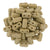 Czechmate 2mm X 6mm Brick Glass Czech Two Hole Bead, Matte French Beige - Barrel of Beads