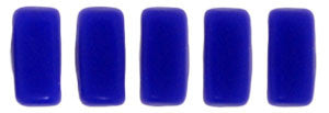 Czechmate 2mm X 6mm Brick Glass Czech Two Hole Bead, Matte Indigo - Barrel of Beads