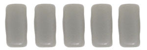 Czechmate 2mm X 6mm Brick Glass Czech Two Hole Bead, Matte Ash Grey - Barrel of Beads