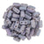 Czechmate 2mm X 6mm Brick Glass Czech Two Hole Bead, Luster Opaque Amethyst - Barrel of Beads
