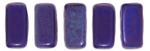 Czechmate 2mm X 6mm Brick Glass Czech Two Hole Bead, Matte Indigo Vega - Barrel of Beads