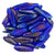 Czechmate 16mm X 5mm X 3mm Dagger Glass Czech Two Hole Bead, Luster Iris Cobalt - Barrel of Beads