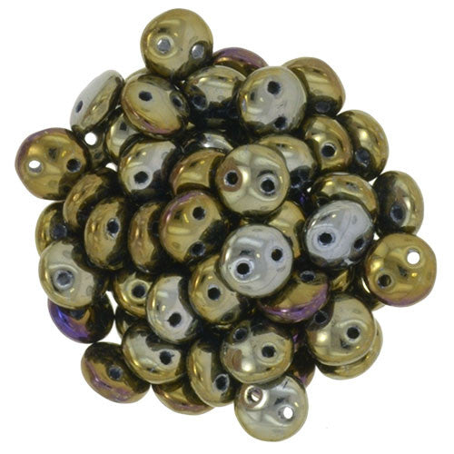 Iris Brown Czech 2-Hole Brick bead