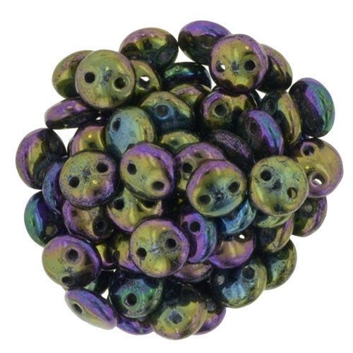 Iris Purple Czech 2-Hole Brick bead