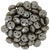Czechmate 6mm Lentil Glass Czech Two Hole Bead, Pearl Coat - Brown Sugar - Barrel of Beads