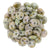 Czechmate 6mm Lentil Glass Czech Two Hole Bead, Opaque Ultra Luster Green - Barrel of Beads