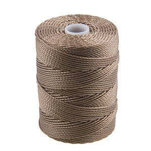 C-LON Bead Cord, Antique Brown - 0.5mm, 92 Yard Spool - Barrel of Beads