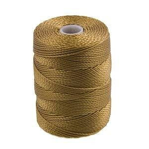 C-LON Bead Cord, Antique Gold - 0.5mm, 92 Yard Spool - Barrel of Beads