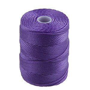 C-LON Bead Cord, Amethyst - 0.5mm, 92 Yard Spool - Barrel of Beads