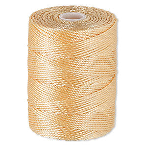 C-LON Bead Cord, Apricot - 0.5mm, 92 Yard Spool - Barrel of Beads
