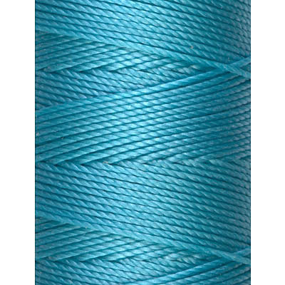 C-LON Bead Cord, Aqua - 0.5mm, 92 Yard Spool - Barrel of Beads