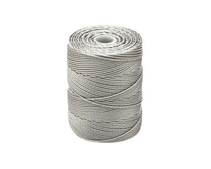 C-LON Bead Cord, Argentum - 0.5mm, 92 Yard Spool - Barrel of Beads