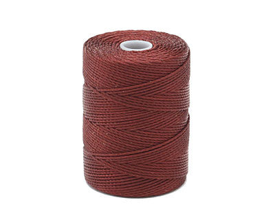 C-LON Bead Cord, Black Currant - 0.5mm, 92 Yard Spool - Barrel of Beads