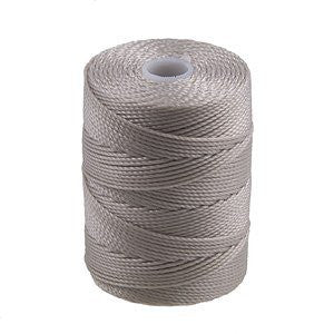C-LON Bead Cord, Beige - 0.5mm, 92 Yard Spool - Barrel of Beads