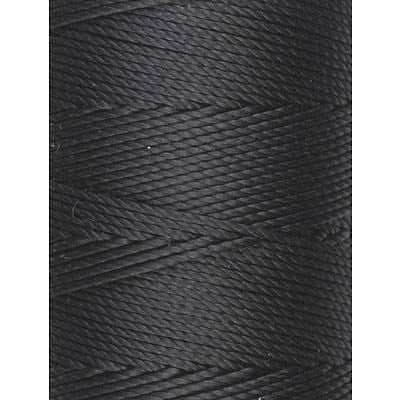 C-LON Bead Cord, Black - 0.5mm, 92 Yard Spool - Barrel of Beads
